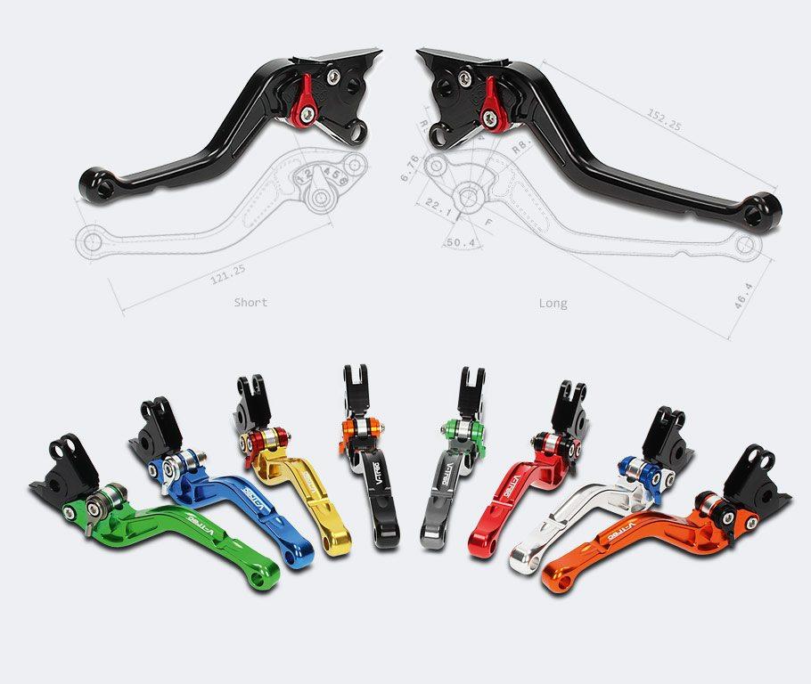 Motorrad CNC Bremshebel Kupplungshebel Set klappbar fur SUZUKI GSX-S1000//F//ABS 2015-Gold